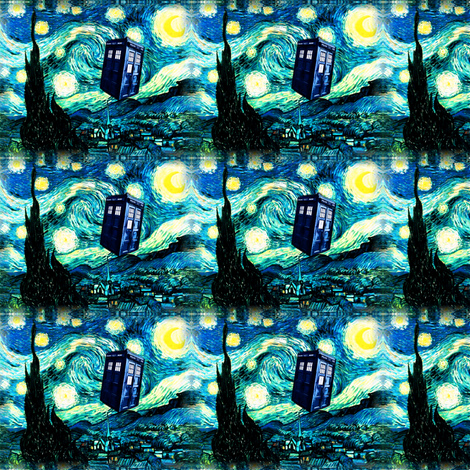 Doctor Who Inspired Starry Night TARDIS