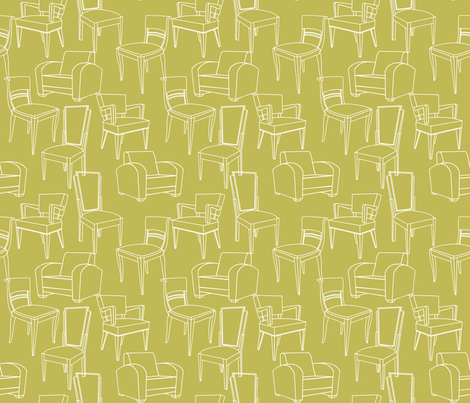 Art Deco Chairs fabric by theboutiquestudio on Spoonflower - custom fabric