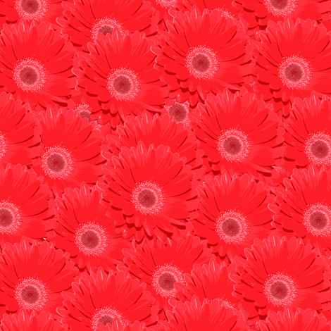 gerbera_red fabric by owls on Spoonflower - custom fabric
