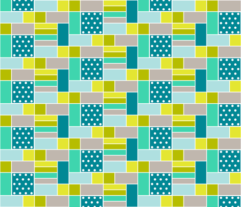 BlueGeo fabric by mrshervi on Spoonflower - custom fabric