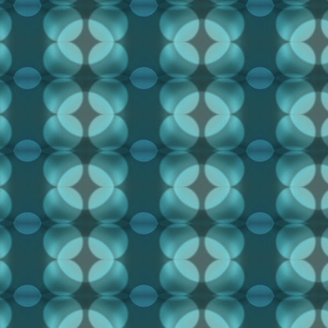 Teal & Grey Bokeh Dots fabric by bohobear on Spoonflower - custom fabric