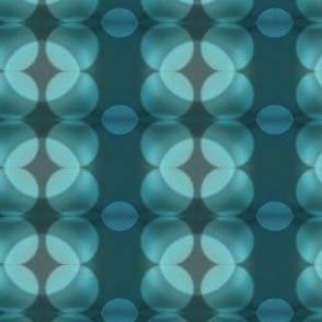 Teal & Grey Bokeh Dots