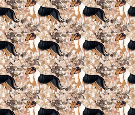 Smooth Collie Fabric fabric by dogdaze_ on Spoonflower - custom fabric