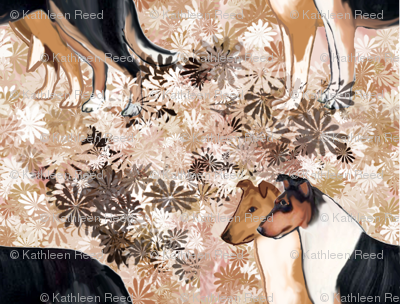 Smooth Collie Fabric