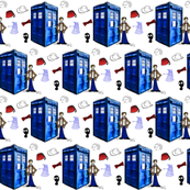 Doctor Who Inspired Police Box, Bow Ties, Fezzes, Stetson, Daleks River Song