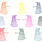Doctor Who Inspired Rainbow Daleks
