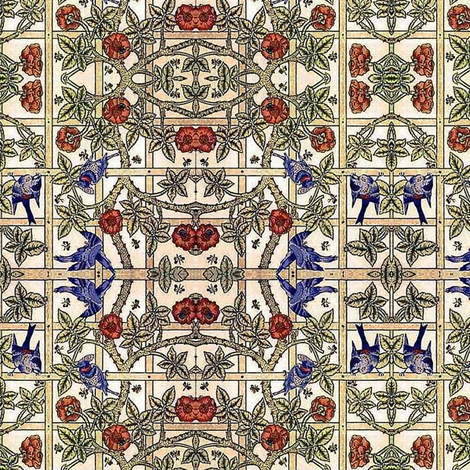Rose Lattice fabric by flyingfish on Spoonflower - custom fabric