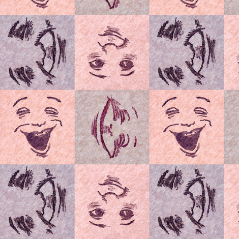 Happy Faces_4 fabric by tallulahdahling on Spoonflower - custom fabric