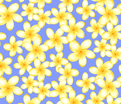 Island Frangipani fabric by neatdesigns on Spoonflower - custom fabric