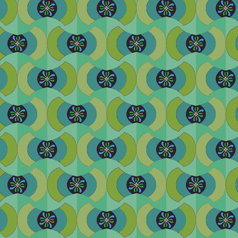 Hackflower (Greens) fabric by david_kent_collections on Spoonflower - custom fabric
