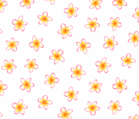 Frangipani small fabric by neatdesigns on Spoonflower - custom fabric