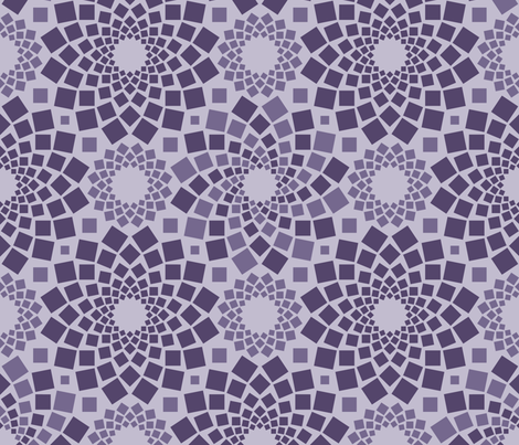 Kaleidoflowers (Purples) fabric by robyriker on Spoonflower - custom fabric