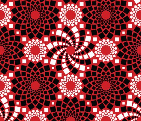 Kaleidoflowers (Red, Black and White)