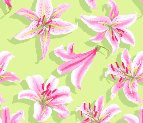Lily fabric by neatdesigns on Spoonflower - custom fabric