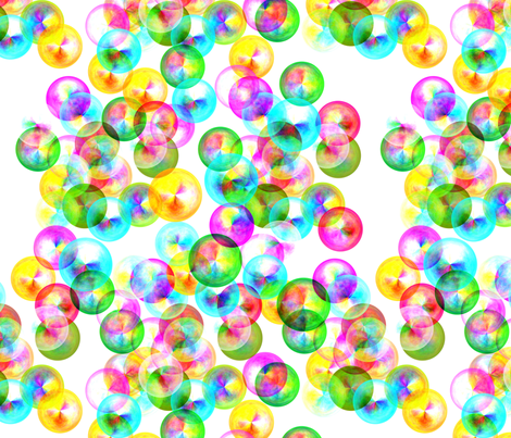 Tiny Bubbles fabric by feebeedee on Spoonflower - custom fabric