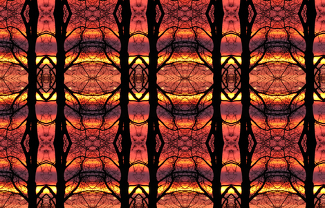 sunset filigree fabric by circulating on Spoonflower - custom fabric
