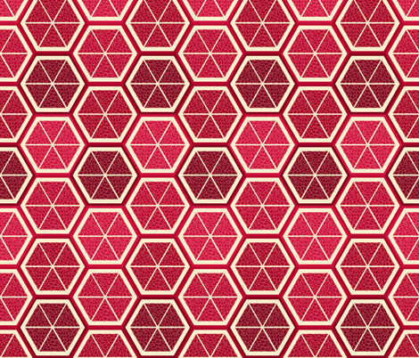 Hexy Poms fabric by shelleymade on Spoonflower - custom fabric