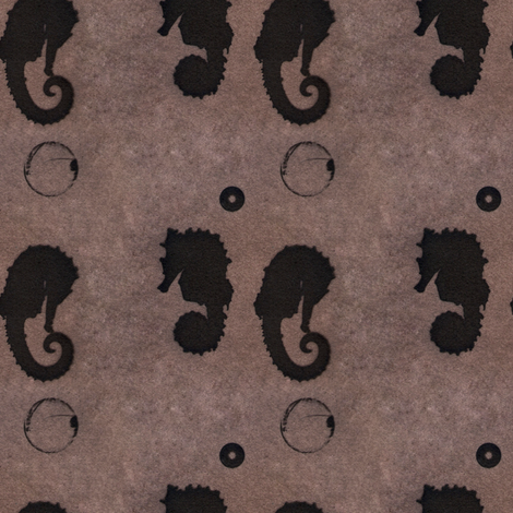 seahorse bubbles fabric by trollop on Spoonflower - custom fabric