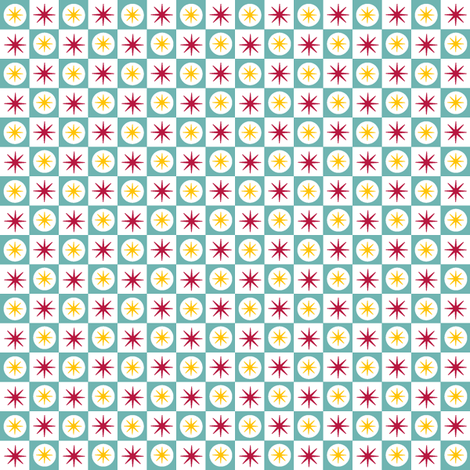 Atomic Blue fabric by pennycandy on Spoonflower - custom fabric