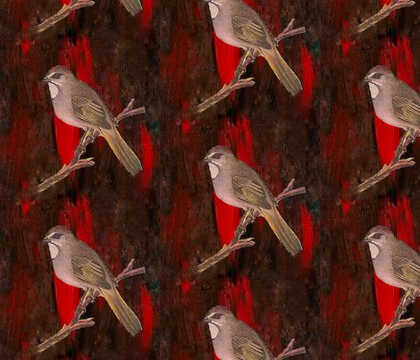 Birdie fabric by trollop on Spoonflower - custom fabric