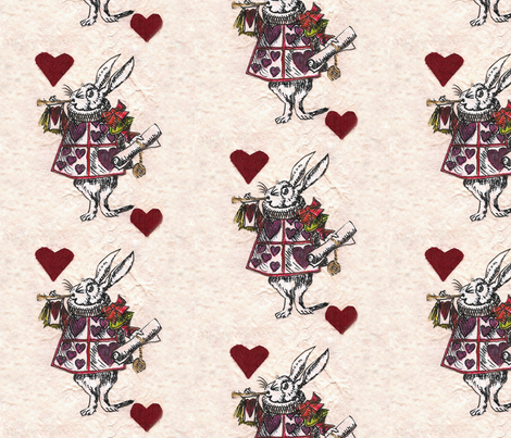 White Rabbit fabric by trollop on Spoonflower - custom fabric