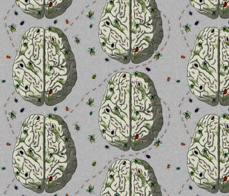 The Living Brain fabric by glanoramay on Spoonflower - custom fabric