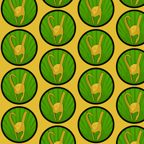Loki Patch fabric by kitsunedesigns on Spoonflower - custom fabric