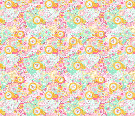 Flamingo Paradise Tropical fabric by johanna_lange_designs on Spoonflower - custom fabric