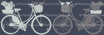 Bicycles on bluish grey