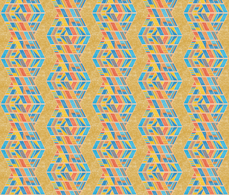 Beach strands on honey gold, large fabric by su_g on Spoonflower - custom fabric