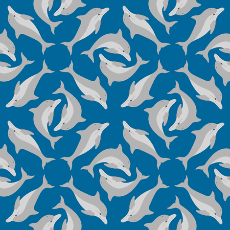 dolphin array fabric by sef on Spoonflower - custom fabric