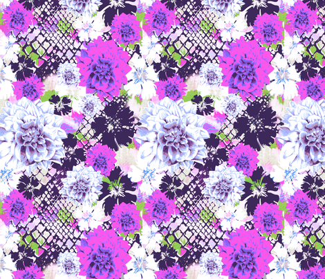 Croc___flowers_purple fabric by aimeesthill on Spoonflower - custom fabric