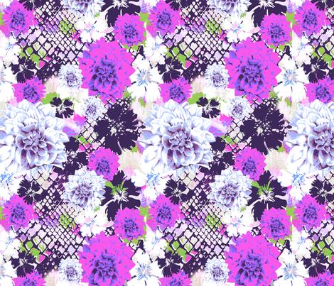 Croc___flowers_purple fabric by aimeesthill on Spoonflower - custom fabric
