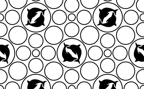 dolphin dots fabric by sef on Spoonflower - custom fabric