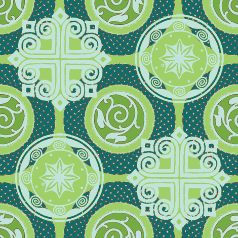 wreath and shadow fabric by keweenawchris on Spoonflower - custom fabric