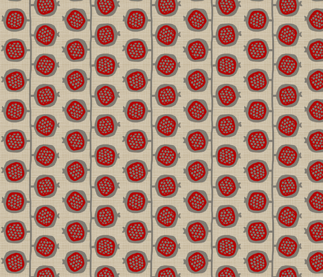 POMEGRANATES_trees fabric by glorydaze on Spoonflower - custom fabric