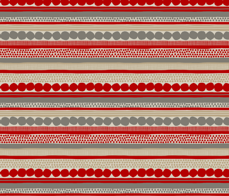POMEGRANATES_STRIPE fabric by glorydaze on Spoonflower - custom fabric