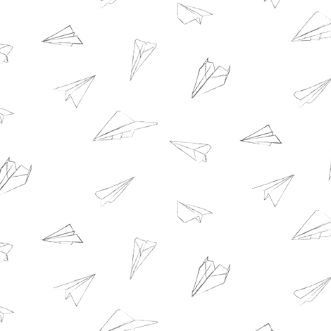 paper_aeroplanes fabric by owls on Spoonflower - custom fabric