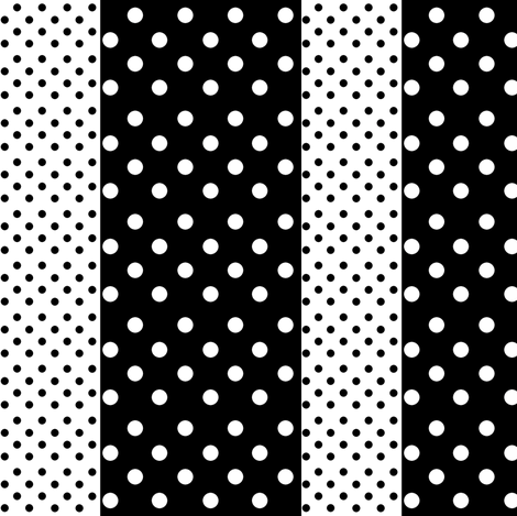 Spots in Stripes fabric by delsie on Spoonflower - custom fabric