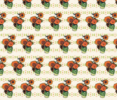 Van Gogh's Sunflowers // Southwestern Floral fabric by bohobear on Spoonflower - custom fabric