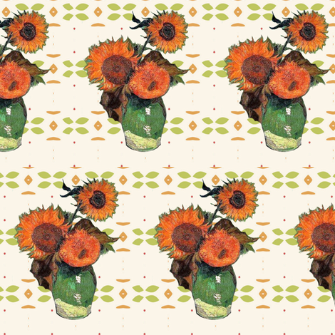 Van Gogh's Sunflowers // Southwestern Floral fabric by bohobear on Spoonflower - custom fabric
