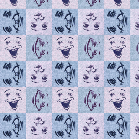 HappyFaces_2_small fabric by tallulahdahling on Spoonflower - custom fabric
