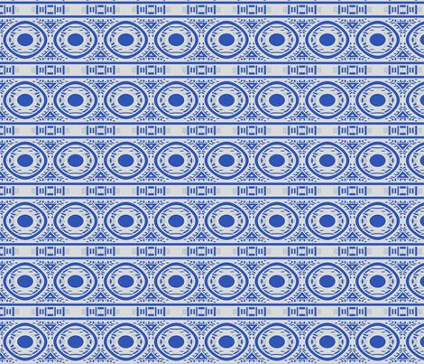 Blue and White Circle Frieze © Gingezel™ 2012 fabric by gingezel on Spoonflower - custom fabric
