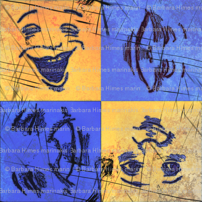 Happy Faces: Bright and Grungy -Large