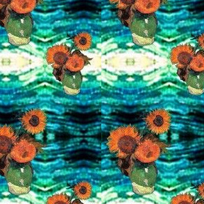 Sunflowers on Starry Night | Southwest Style |  Van Gogh by BohoBear