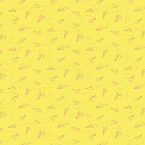 paper_aeroplanes_flying_yellow