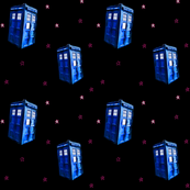 Doctor Who Inspired TARDIS on Pink Starfield