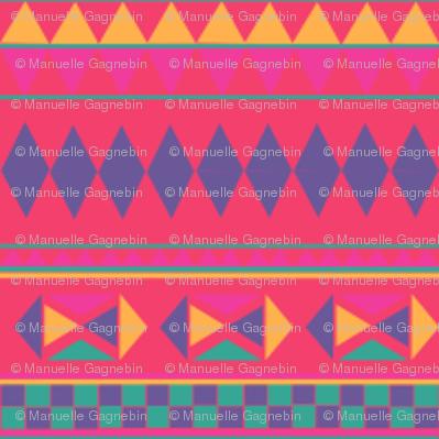 AFRIQUE 1 Palette DEGRADE DE ROSE