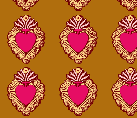 Singe Milagro Magenta fabric by jokers_r_wild on Spoonflower - custom fabric