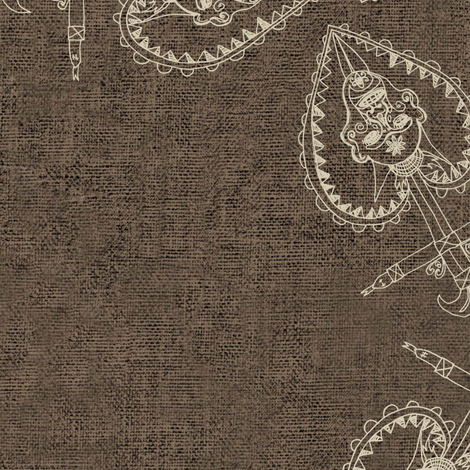 symbols on burlap fabric by susiprint on Spoonflower - custom fabric
